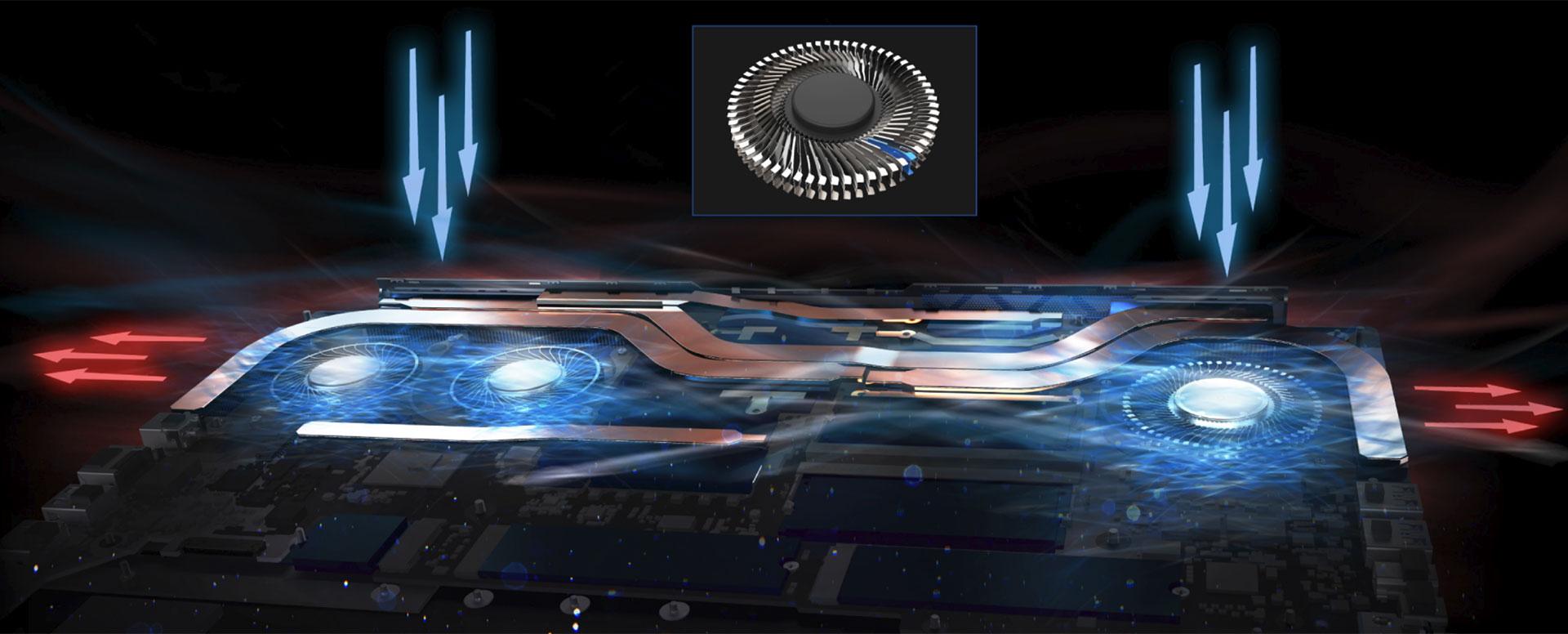 Acer Predator Triton 500 - cooling
