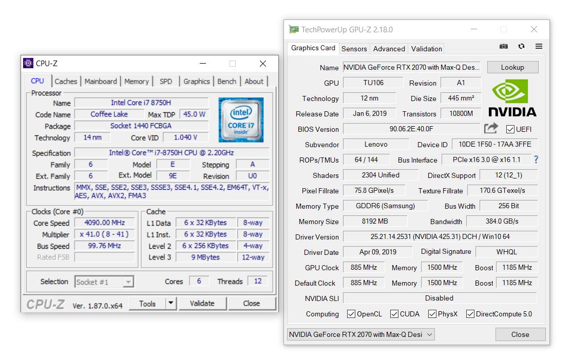Lenovo Legion Y740 15-inch review (Y740-15ICH model - i7-8750H, RTX