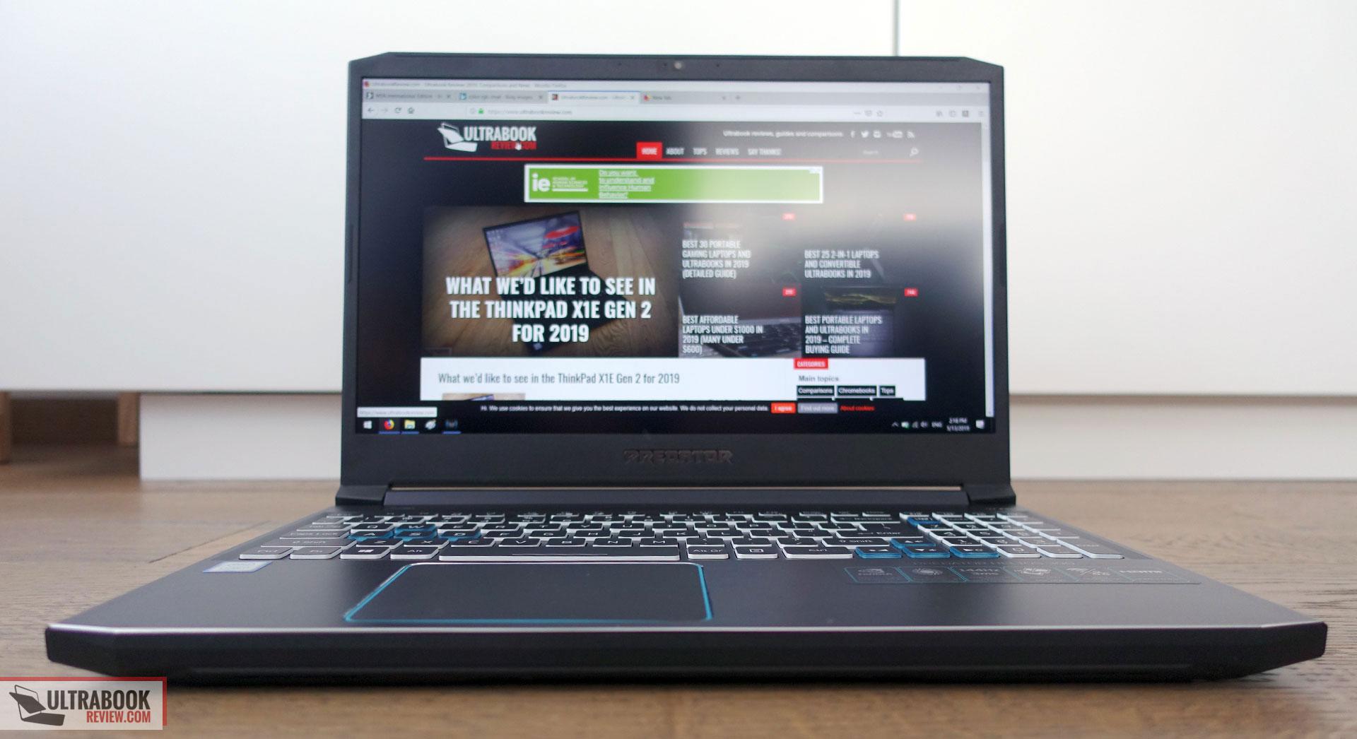 Acer Predator Helios 300 Review 15 Inch Ph315 52 2019 Model