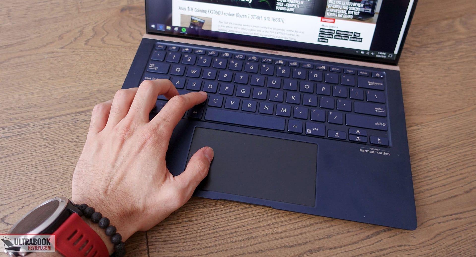 Asus ZenBook 14 UX434FL - keyboard
