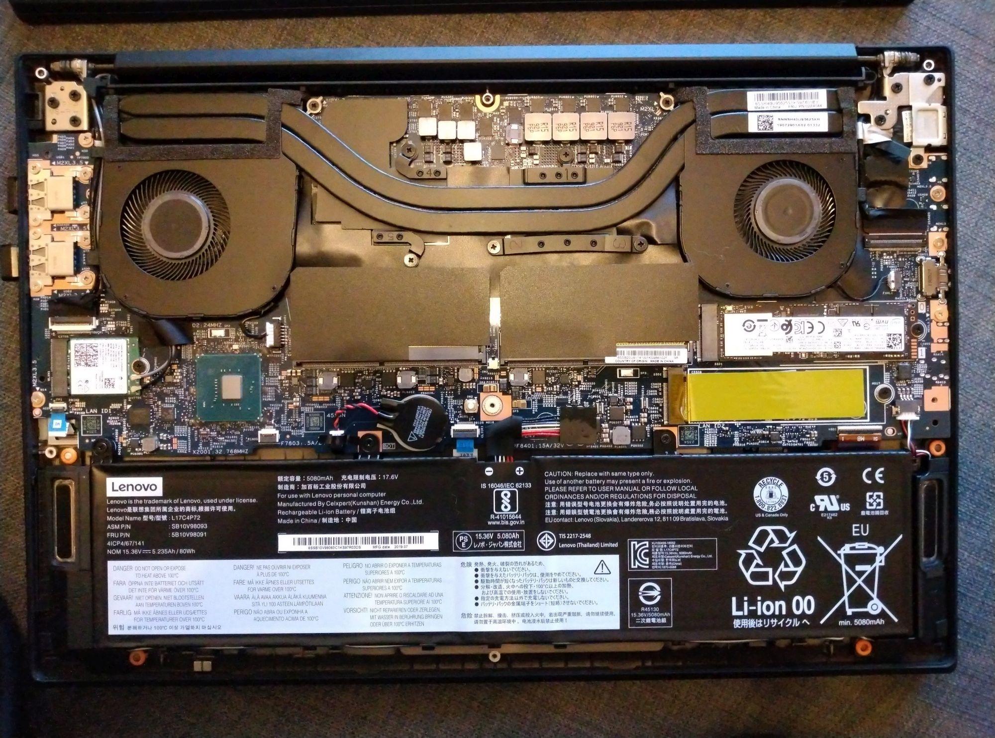 Lenovo ThinkPad X1 Extreme Gen 2 Review (i7-9750H, Nvidia