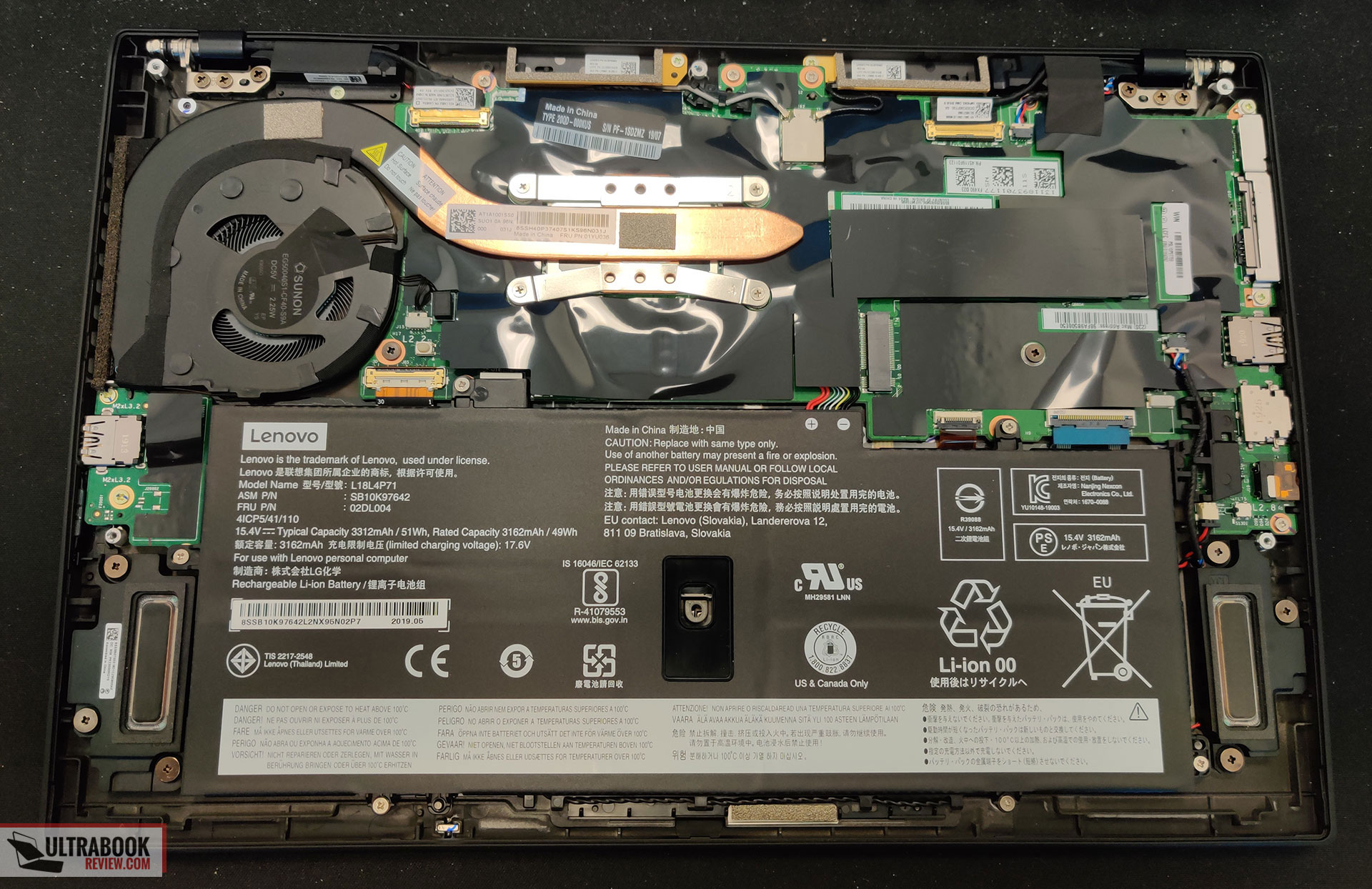 Lenovo ThinkPad X1 Carbon 7th - internals