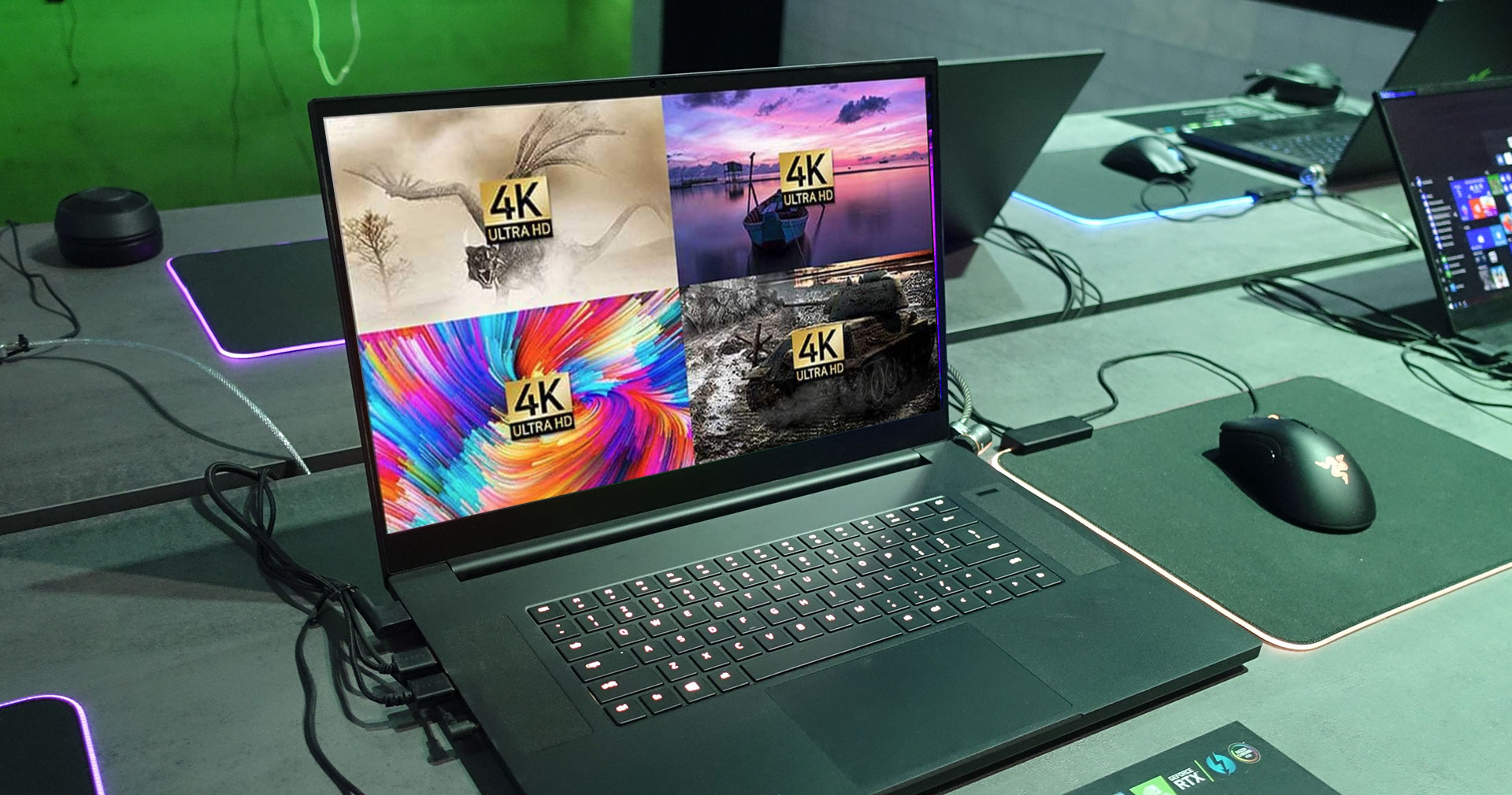 The Blade Pro 17 is among the first gaming laptops announced with the 4K 120 Hz 100% AdobeRGB panel
