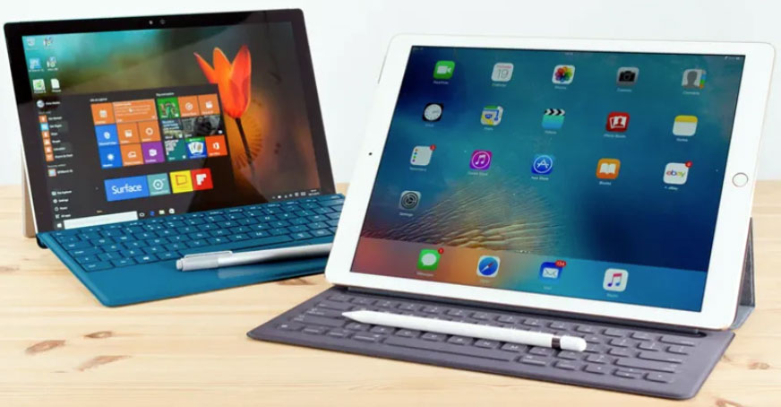 The Surface Pro and iPad pro battle at the top of this niche, but the Surface Go might just be the better value option for less-demanding customers