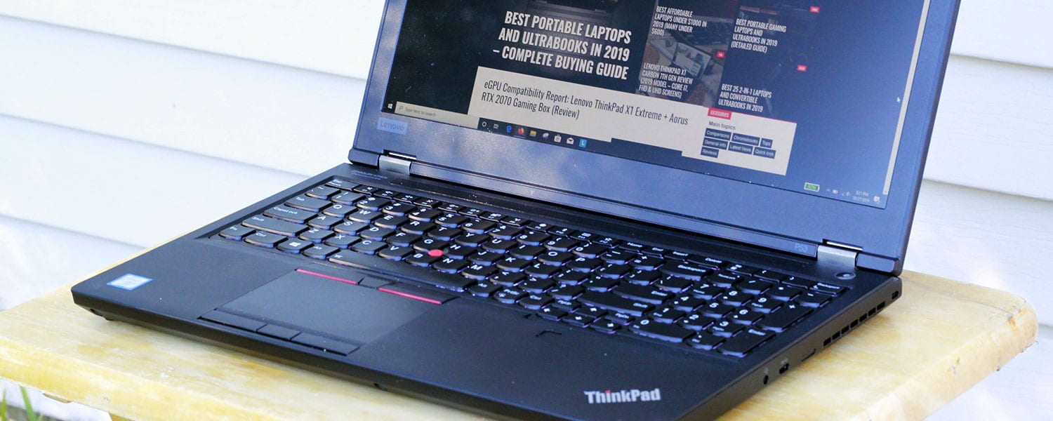Lenovo ThinkPad P53 Review (Core i7-9850H, Quadro RTX 5000)