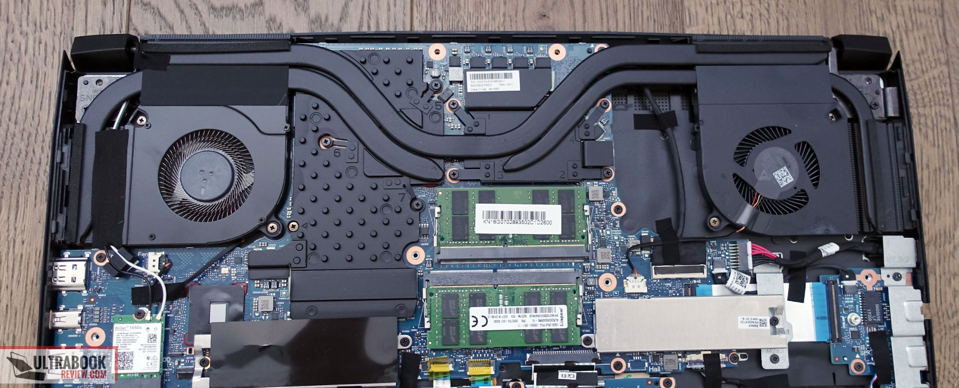 Acer ConceptD 5 Pro - internals, cooling, thermal module