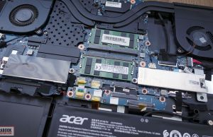 Acer ConceptD 5 Pro - internals and disassembly, RAM, storage