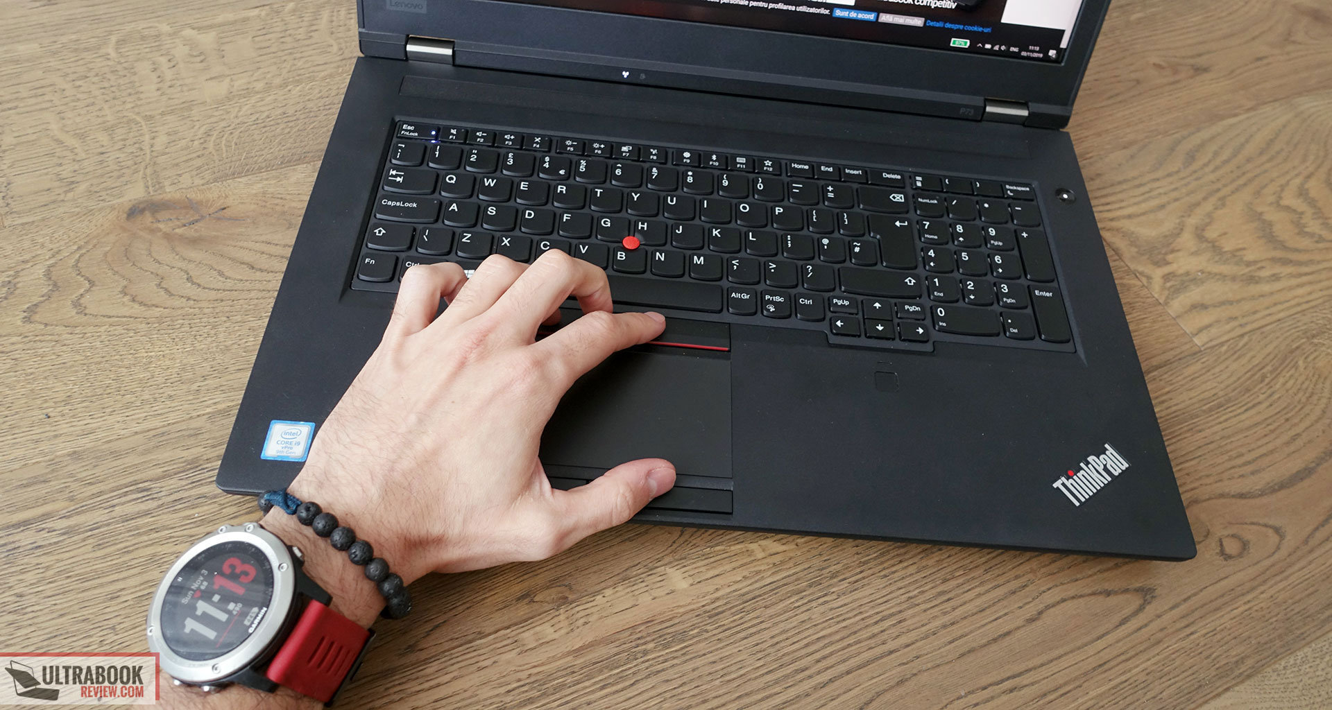 Lenovo ThinkPad P73 - keyboard and touchpad