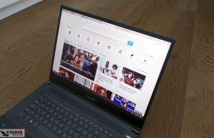 exterAsus StudioBook Pro W700 - screen