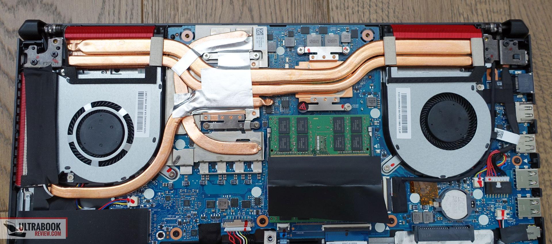 Asus TUF Gaming FX505DV - cooling, thermal module