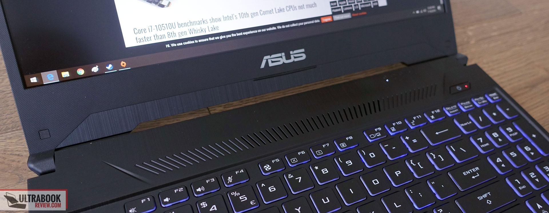 Asus TUF Gaming FX505DV - interior