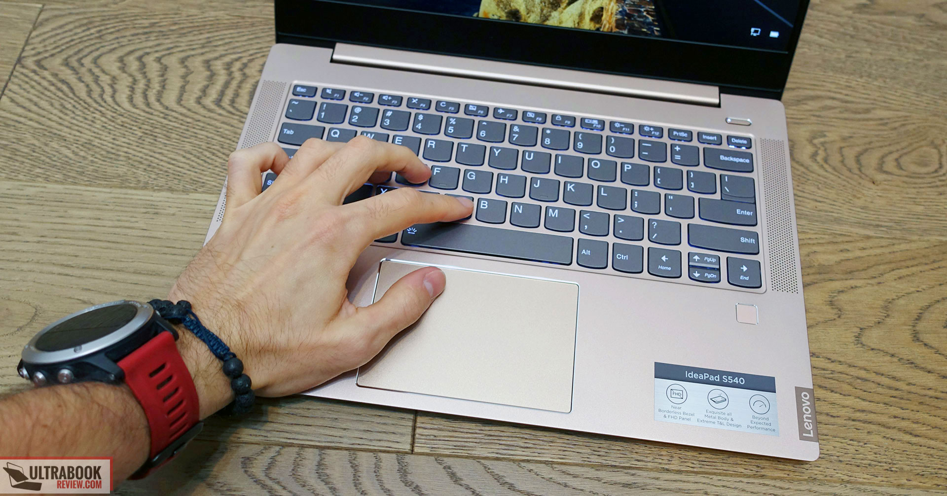 Lenovo IdeaPad S540 - keyboard and clickpad