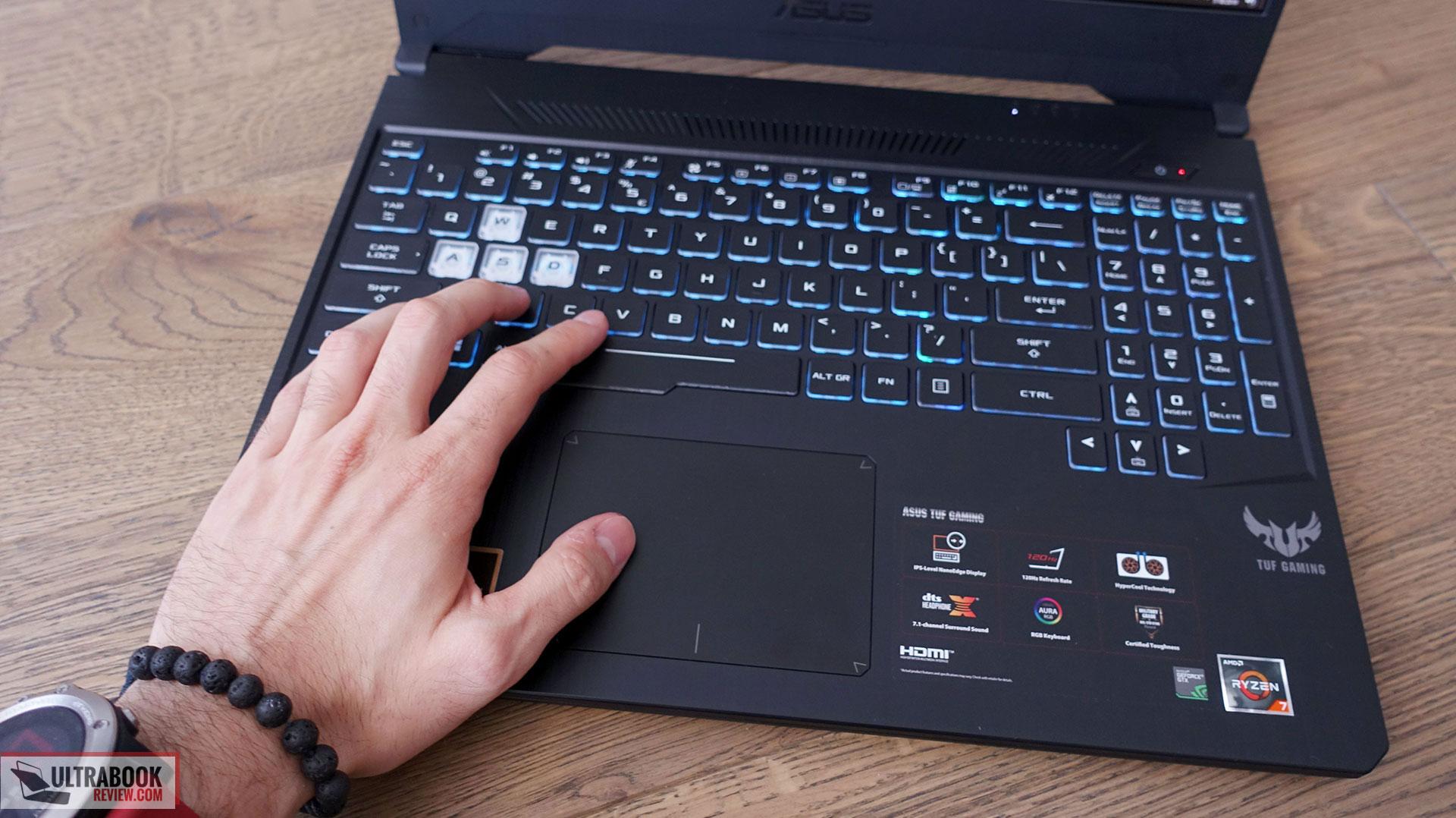 Asus TUF Gaming FX505DV - keyboard and clickpad