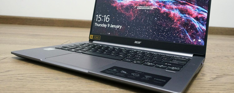 Acer Swift 3 SF314-57 review (2020 model, Core i5-1035G1 IceLake)