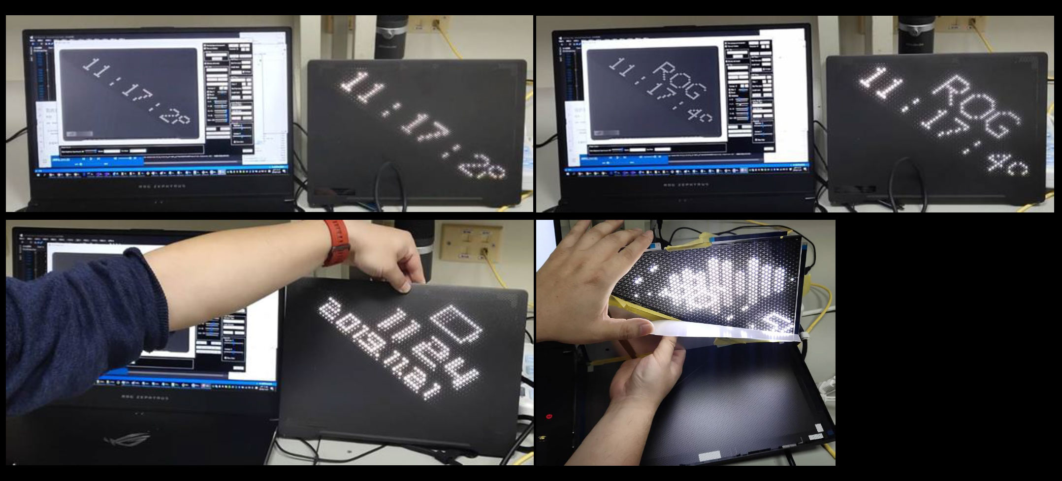 A preview of the AreaMatrix LED display