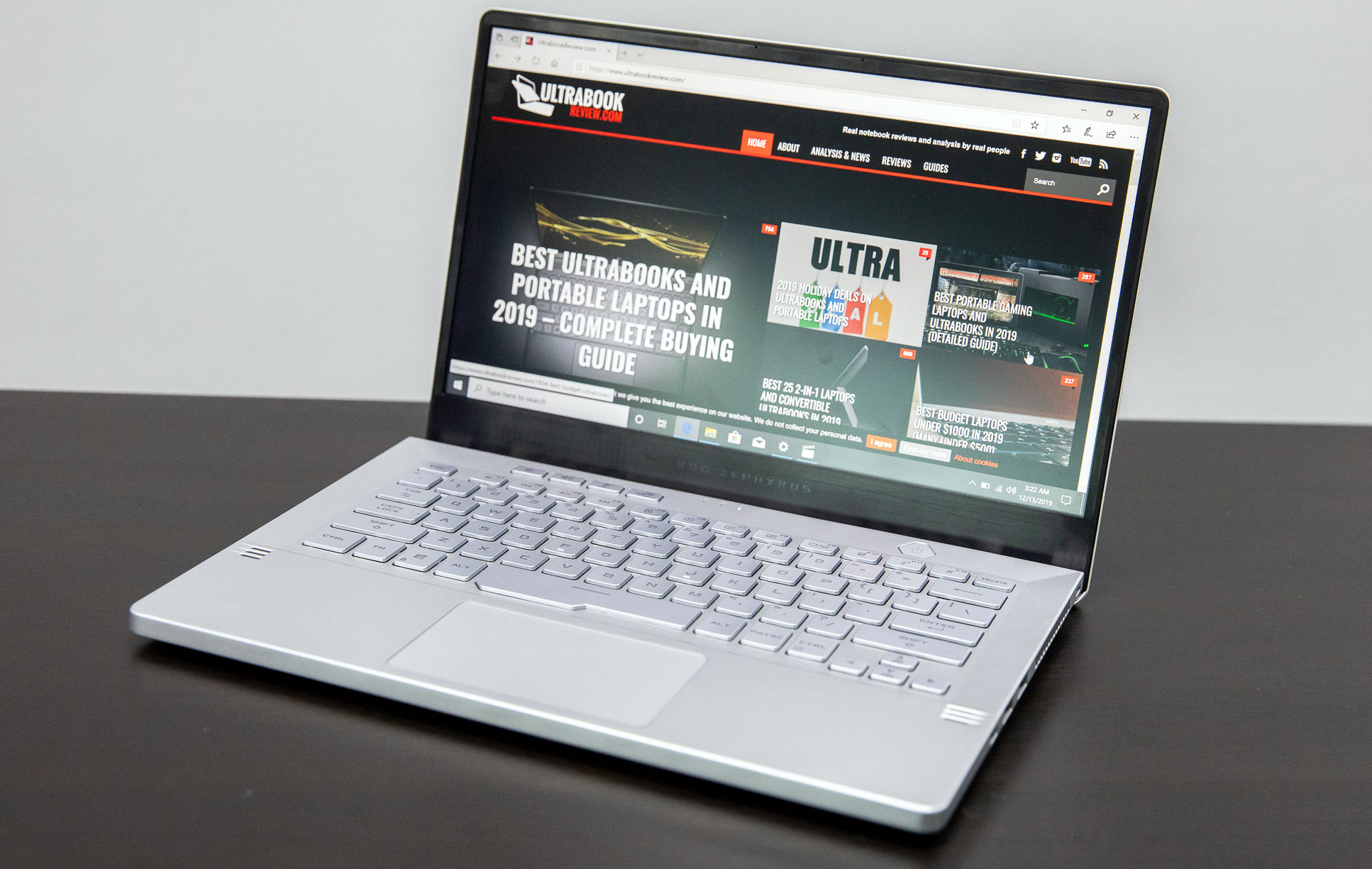 14-inch Asus Zephyrus G14 with AMD Ryzen 4000 and RTX 2060 graphics
