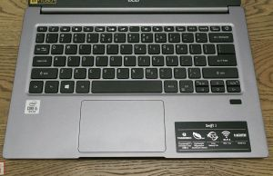 Acer Swift 3 SF314-57 keyboard and clickpad