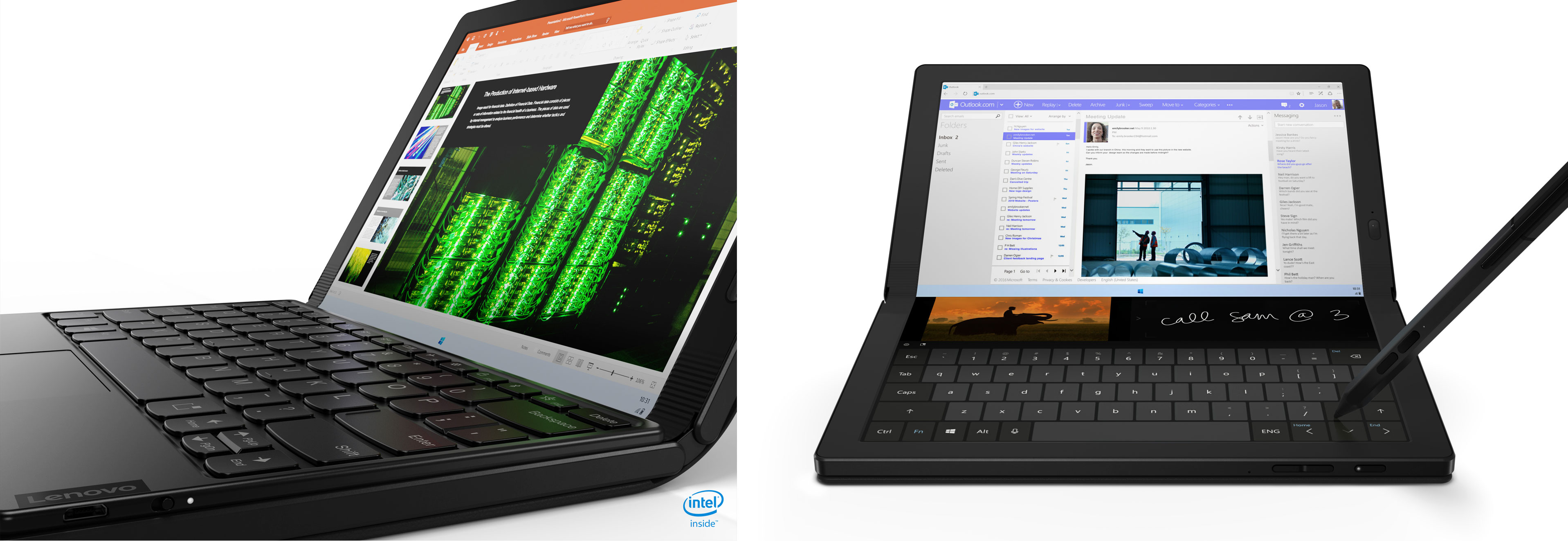ThinkPad X1 Fold - keyboard and touch-keyboard
