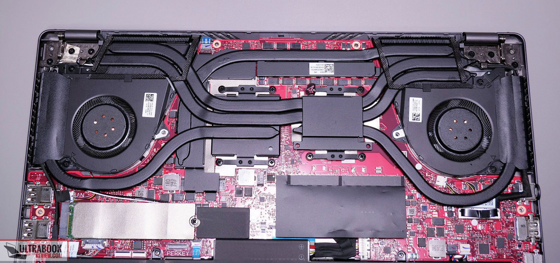 Asus ROG Zephyrus G14 GA401IV - thermal module and cooling