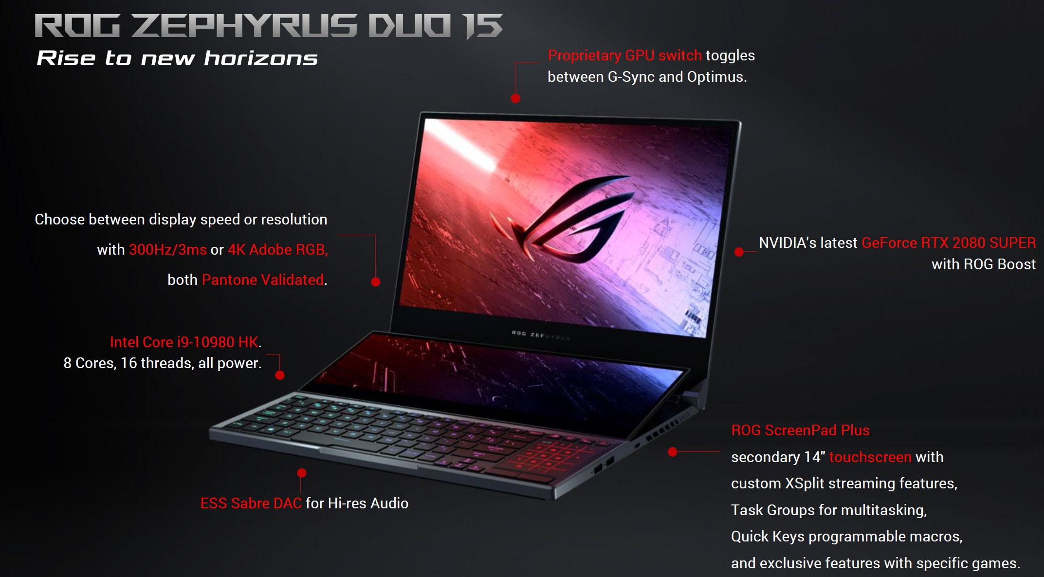 Asus ROG Zephyrus Duo GX550 summary