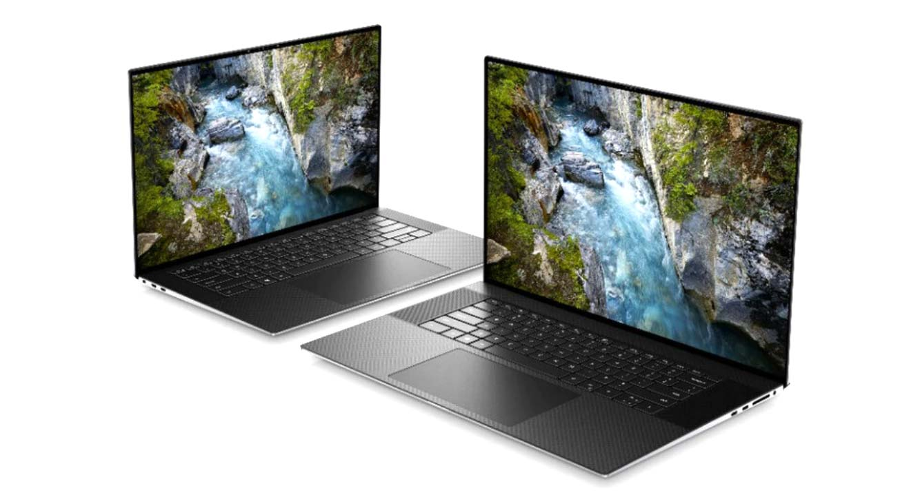 XPS 15 9500 (left) and XPS 17 9700 (right) 2020 models