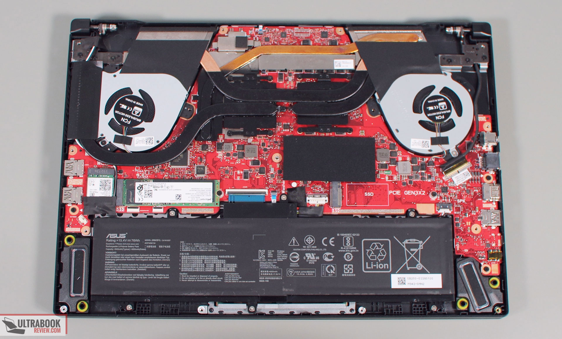 Asus Zephyrus G15 GA502 thermal design and disassembly