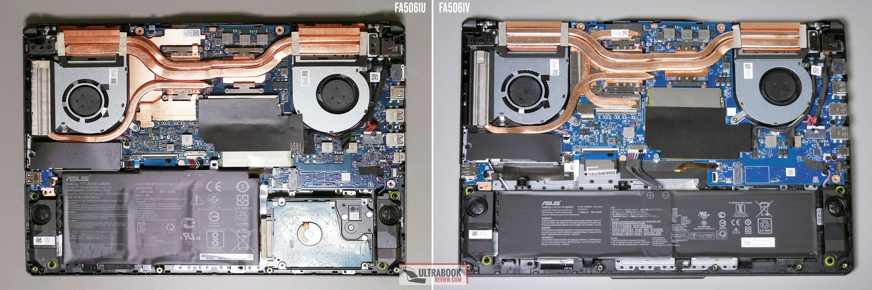 Asus TUF A15 FA506IU vs FA506IV internals