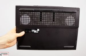 Lenovo Legion 5 - back panel and open intakes