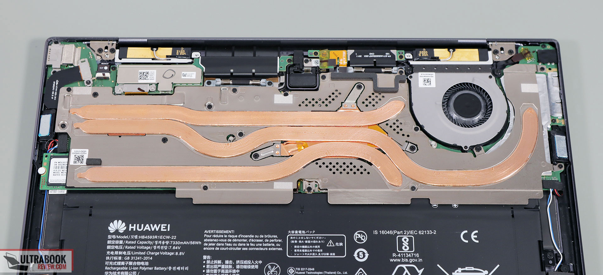MateBook X Pro thermal module
