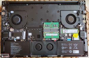 Razer Blade Pro 17 - internals and dissasembly