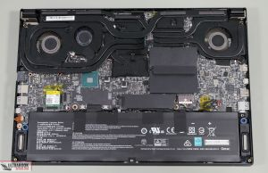 MSI GS66 Stealth internals and disassembly