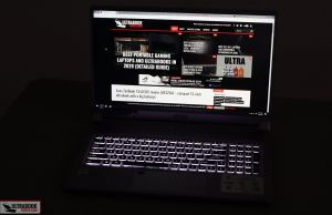 MSI Creator 17 keyboard and clickpad