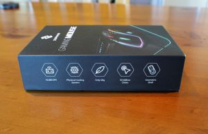Side of the Zephyr Gaming Mouse box