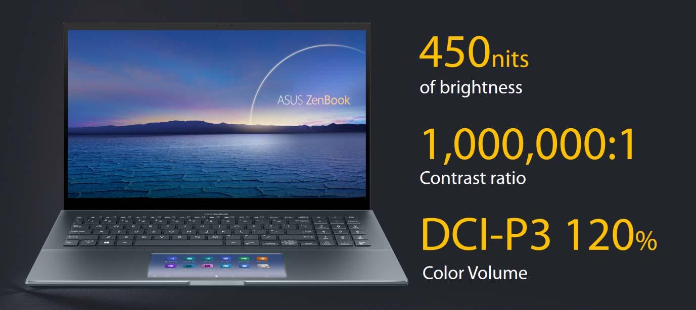 ZenBook Pro 15 OLED display