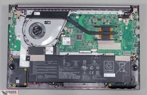 Asus S15 M533IA - internals and dissasembly