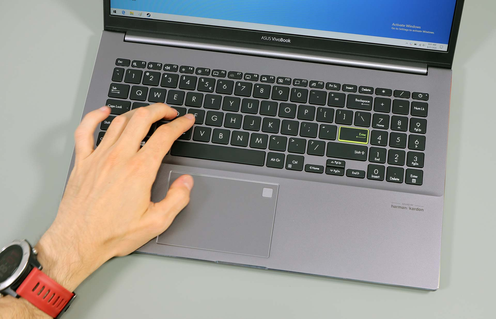 Asus VivoBook S15 M533IA - keyboard and clickpad
