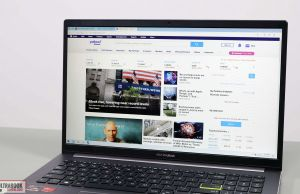 Asus VivoBook S15 M533IA - screen bezels
