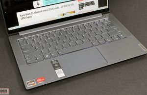 Lenovo IdeaPad Slim 7 review - keyboard and clickpad