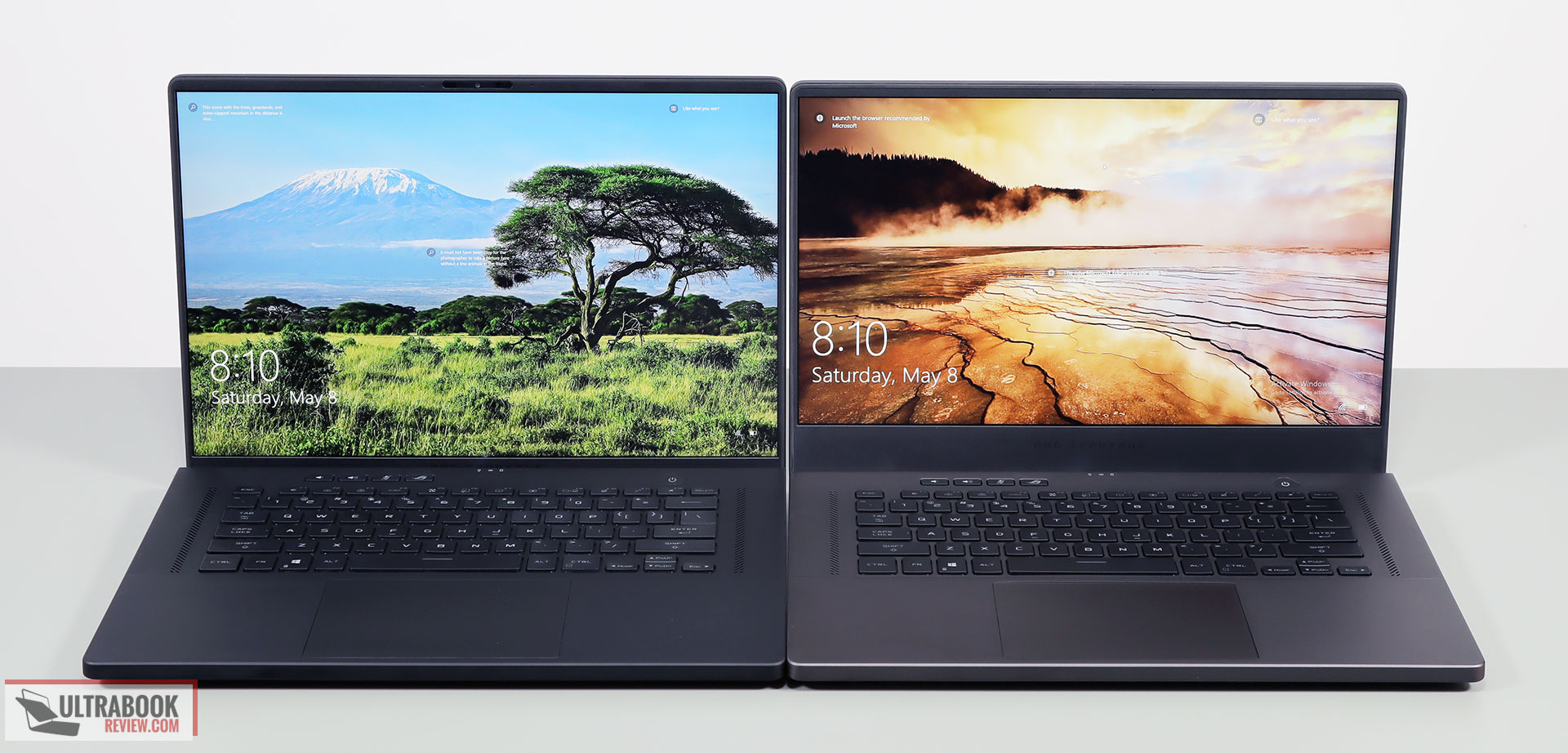 ROG Zephyrus M16 (left) and G15 (right)