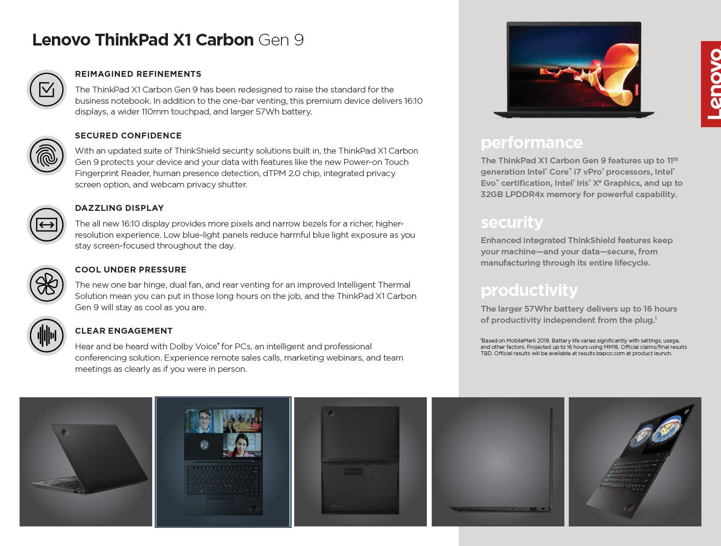 2021 Lenovo ThinkPad X1 Carob, gen 9