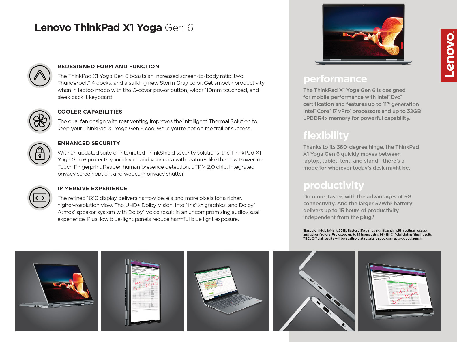 2021 Lenovo X1 Yoga, gen 6