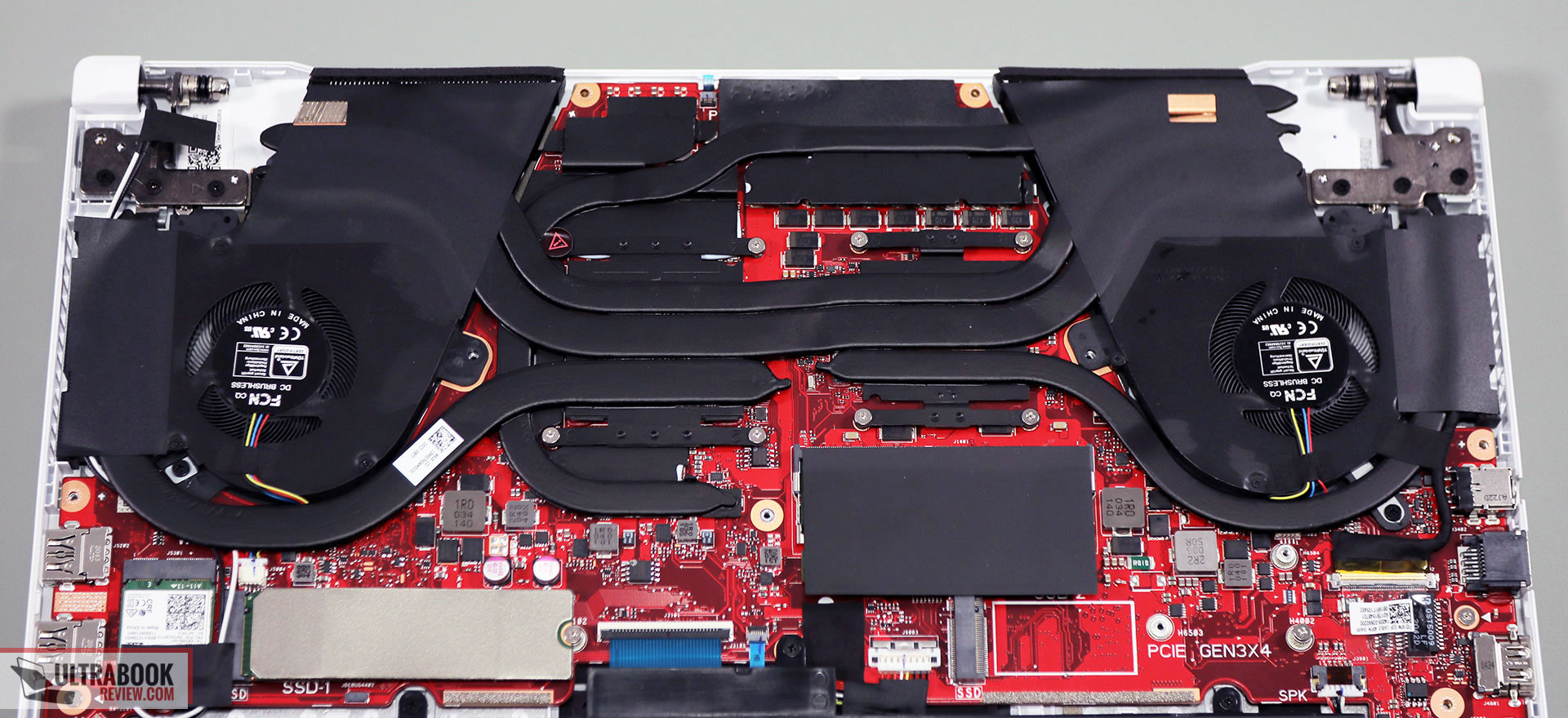 Asus Tuf Dash F15 thermal design and cooling