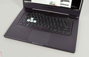 Asus TUF Dash F15 2021 - keyboard and clickpad