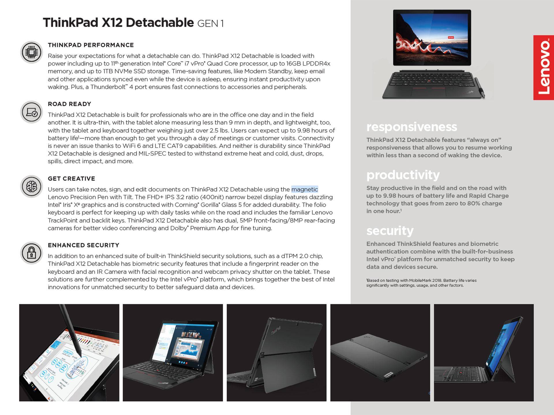 2021 Lenovo ThinkPad X12 Detachable