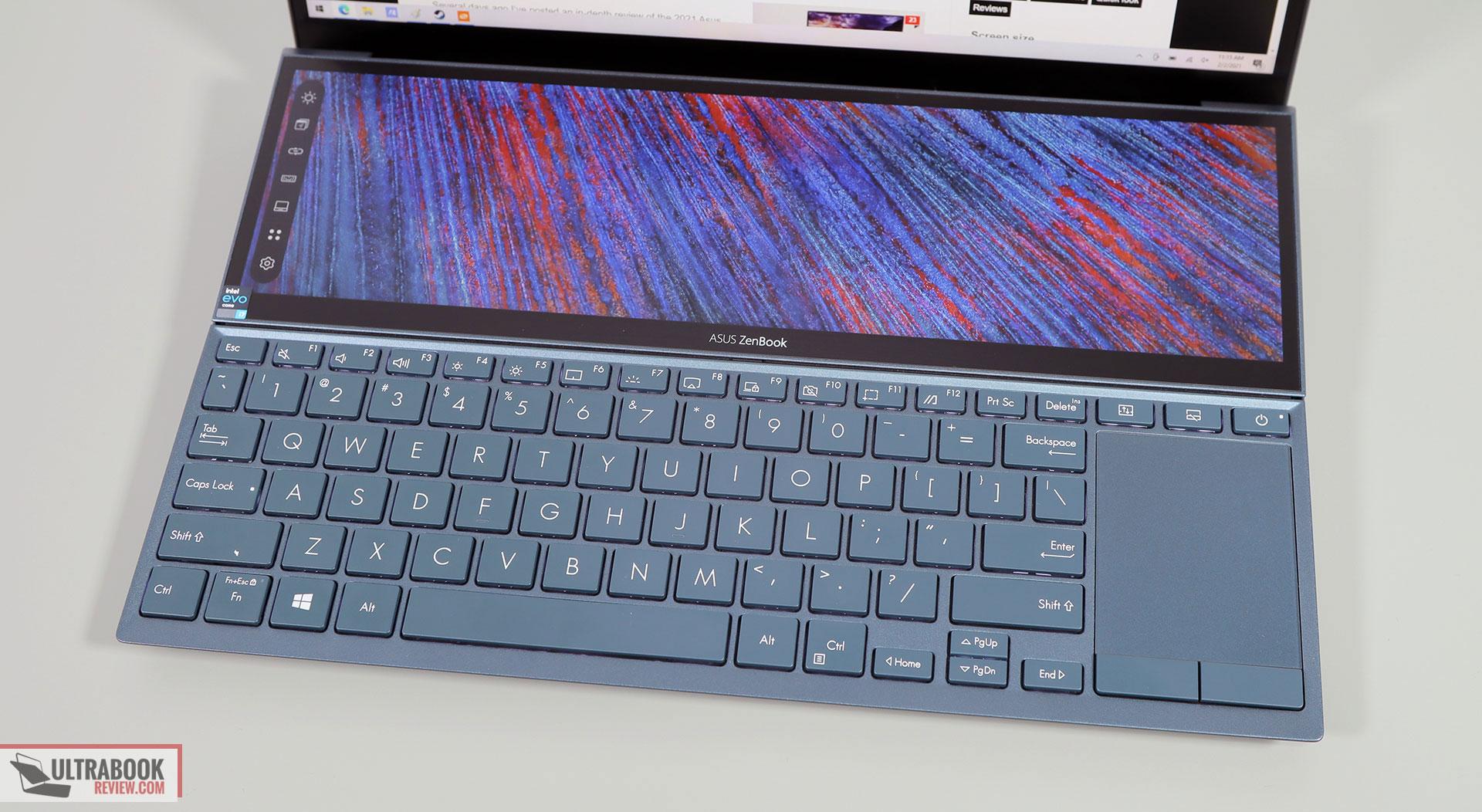 Asus ZenBook Duo 14 UX482 - keyboard