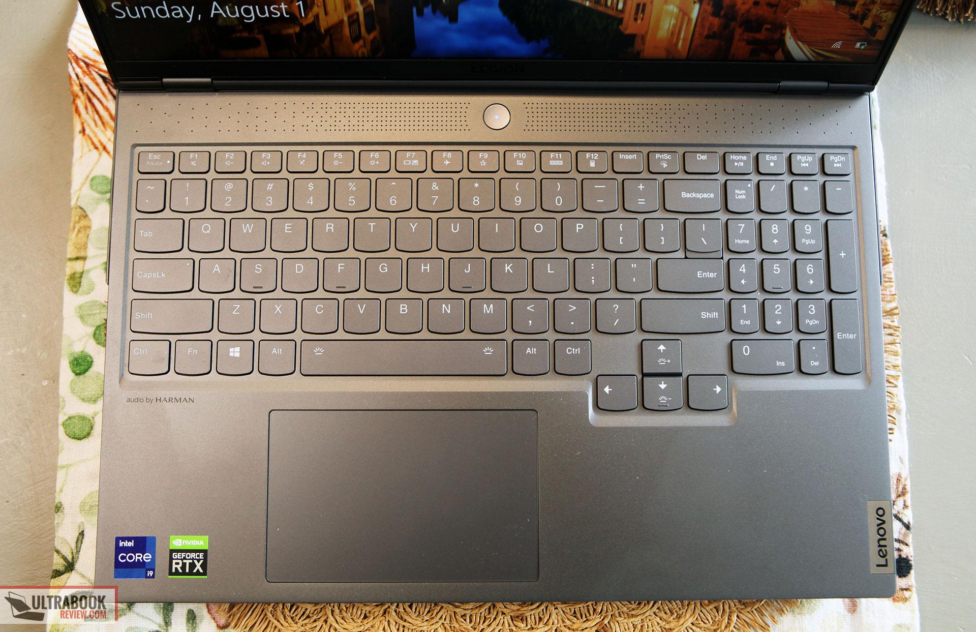 Lenovo Legion 7i - keyboard and clickpad