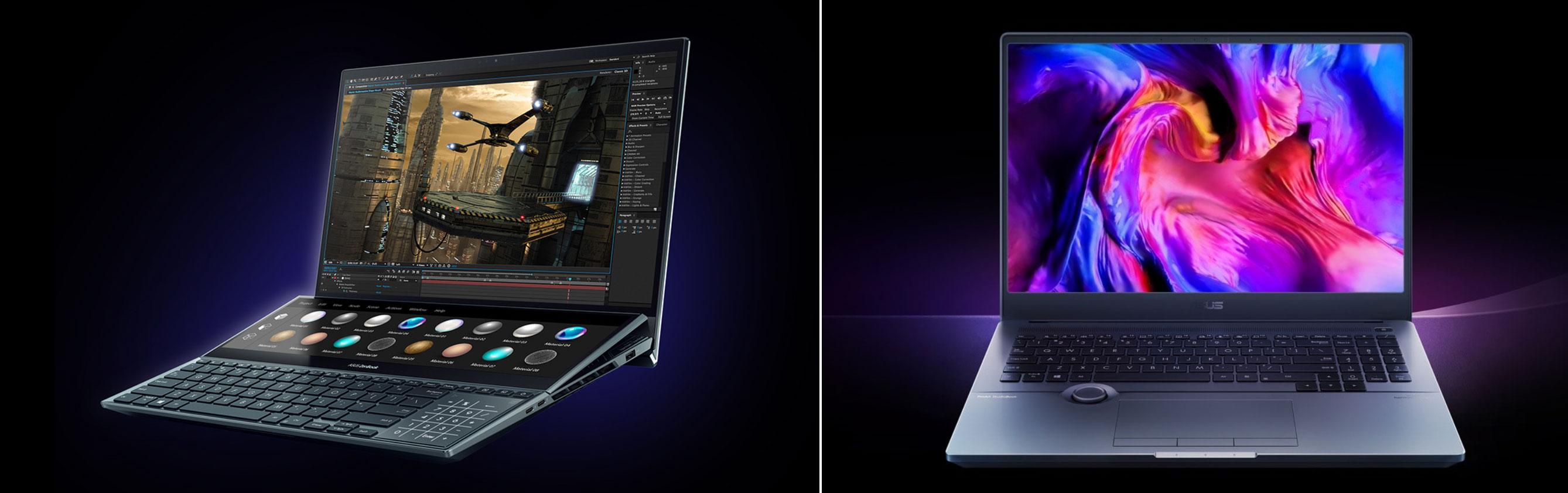 Asus ZenBook Pro DUO and StudioBook Pro 16