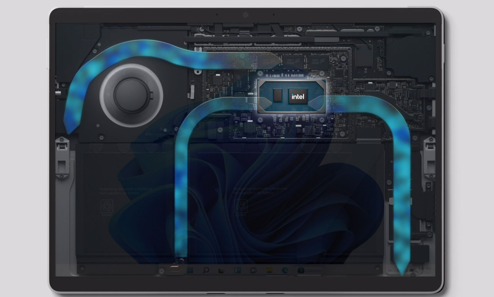 Thermal design of the Surface Pro 8