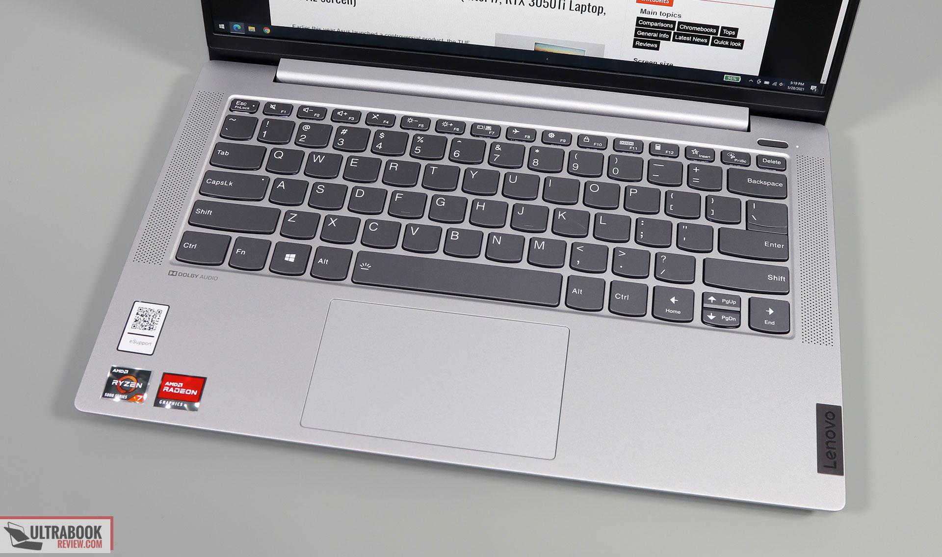 Lenovo IdeaPad 5 14ALC05 review - interior